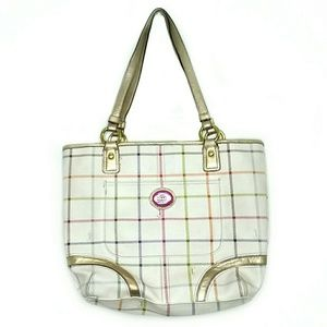 Coach Tattersall Heritage Tote